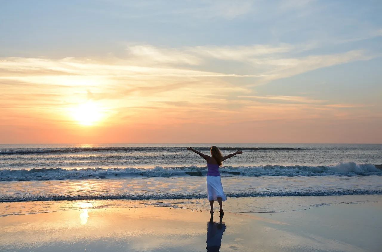 Accessing Connection to Life Energy Flow at the Beach