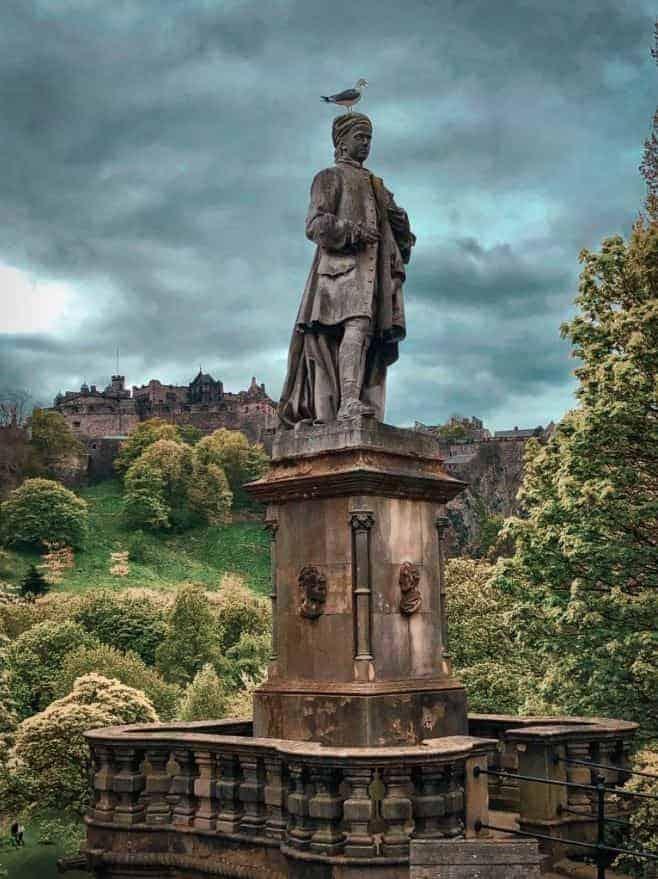 Scottish Highlands statue
