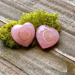 #GivingHearts Two Rose Quartz Hearts 100% of Proceeds go to Mother Earth Clean Up